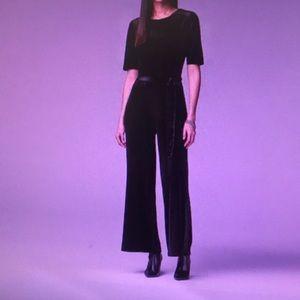 NEW! Simply Vera Wang Wide Leg Velvet Jumpsuit-M